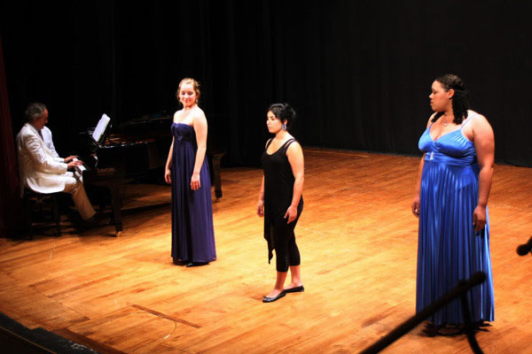 Laura Buff, Shana Grossman, and Kristin Edwards perform the Prologo from Cavalli's LA CALISTO.
